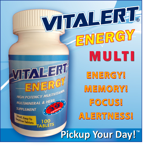 VITALERT® Energy Multivitamin 100 Tablets - LOADED with 40 INGREDIENTS